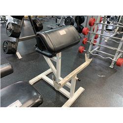 WHITE SEATED COMMERCIAL BICEP BENCH