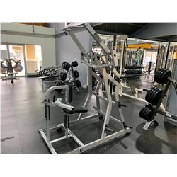 GREY HAMMER STRENGTH FREE WEIGHT LAT PULL DOWN MACHINE