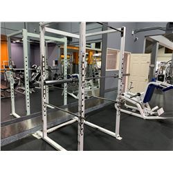 APEX COMMERCIAL ADJUSTABLE SQUAT RACK WITH BAR