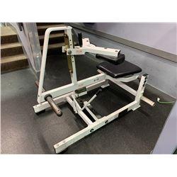 HAMMER STRENGTH FREE WEIGHT SEATED CALF RAISE MACHINE