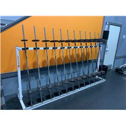 SPARTACUS 12 BARBELL RACK WITH 20LB - 110LB YORK BARBELLS