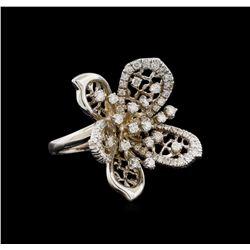 14KT White Gold 1.29 ctw Diamond Ring