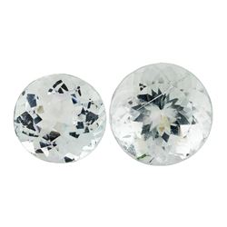 15.80 ctw.Natural Round Cut Aquamarine Parcel of Two