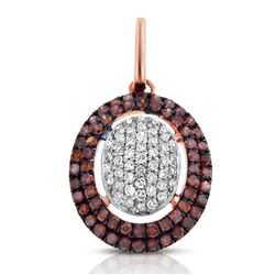 14k Rose Gold  0.32CTW Diamond and Brown Diamonds Pendant
