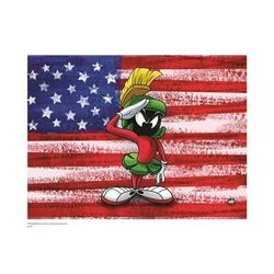 Warner Brothers Hologram Marvin with Flag