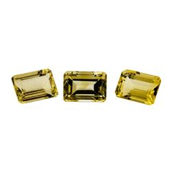 24.04 ctw.Natural Emerald Cut Citrine Quartz Parcel of Three