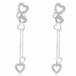 18k White Gold 0.32CTW Diamond Earrings, (I2 /J)