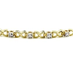 10k Yellow Gold 0.25CTW Diamond Bracelet, (I2-I3/J-K)
