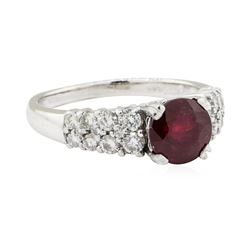2.61 ctw Ruby and Diamond Ring - 14KT White Gold