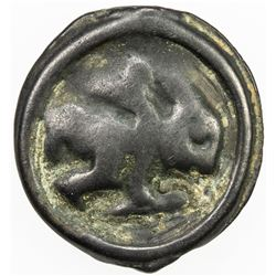 GAUL: Remi, cast potin (4.59g), late to mid 1st century BC, time of Caesar's Gallic Wars, VF