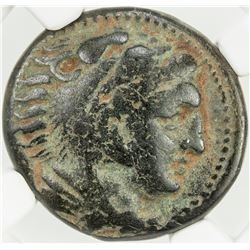 MACEDONIAN KINGDOM: Alexander III, the Great, 336-323 BC, AE unit, ND. NGC VF