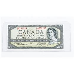 Bank of Canada 1954 20.00 Devil's Face B/C