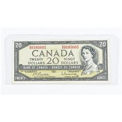 Bank of Canada 1954 20.00 Modified Portrait