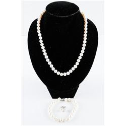 MYOTO Pearl Strand Bracelet and Earrings Set