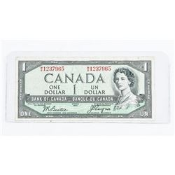 Bank of Canada 1954 1.00 Devil's Face. B/C