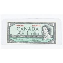 Bank of Canada 1954 1.00 Modified Portrait. L/B