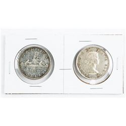 Lot (2) 1953 Canada Silver Dollars (ST) and (NST)