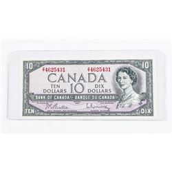 Bank of Canada 1954 10.00 Modified Portrait. B/R