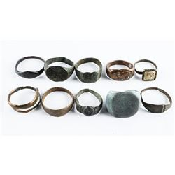 Estate Lot (9) RINGS AS FOUND IN EUROPE by Metal D