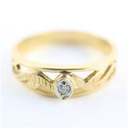 Estate 10kt Gold Diamond Band Ring 3.55gr