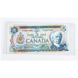 Bank of Canada 1972 5.00 UNC. L/B