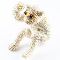 Handmade - Bead/Pearl Monkey - Sitting