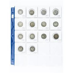 Group of (14) CANADA 925 Sterling Silver 25 cent: