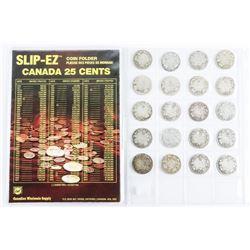 Estate lot (20) Canada Silver 25 Cents - Edward, G