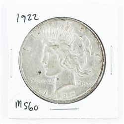 1922 Silver Liberty Dollar MS-60