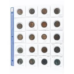 Group of (20) Canada Large One Cent