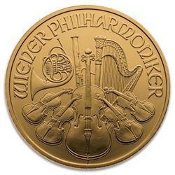 .9999 Fine Gold Austria Gold Philharmonic. 1oz.