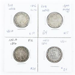 Group of (4) NFLD 20 Cents: 1894, 1896, 1896 (Sm96