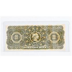 Rare Printer / Engravers Proof 'The Dominion Bank'