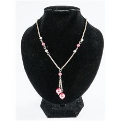Estate 925 Silver Necklace with Ball Accents