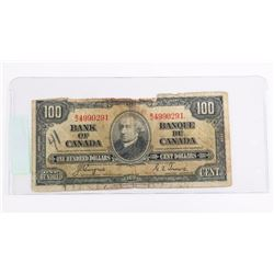 Bank of Canada 1937 100.00 C/T