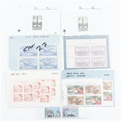 Estate Group Canada Mint Stamps in Blocks