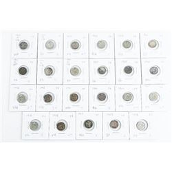 Group of (23) 925 Silver Canada 5 cent coins, Earl