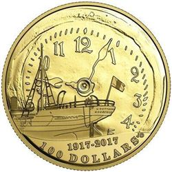 2017 14-KT. GOLD COIN $100 HALIFAX EXPLOSION, 100T