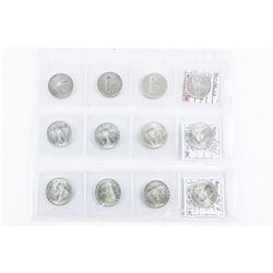 Group of (12) ITALY L500 Lire Silver Coins Repubbl