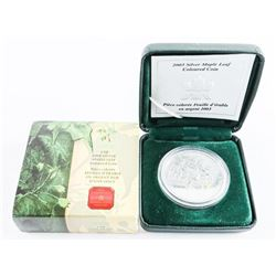 .9999 Fine Silver Maple Leaf Coin, Coloured 5.00 1