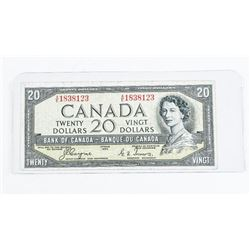 Bank of Canada 1954 20.00 Devil's Face C/T