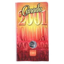 RCM 2001 Canada 25 Cent Flag