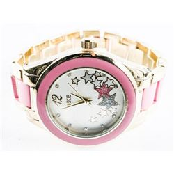 Ladies Quartz Watch Pink Ceramic