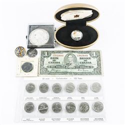 Estate Bag Lot - Mixed Coins, Notes etc