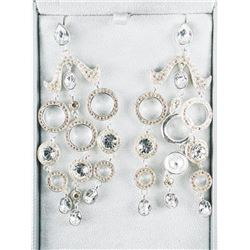 MM Designer Custom Earrings, Fancy Cut Swarovski E