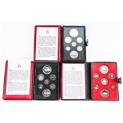 Group (3) RCM Specimen Coin Sets, leather Case 197