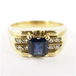 Estate Gents/14kt Gold Ring Size 9.5 Channel Set D