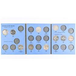 Estate Whitman Book Silver Dollar Collection 10 Co
