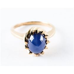 Estate 10kt Gold Ring - Size 6 1/4, Oval Cabochon
