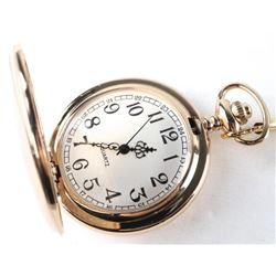 Gold Tone - Pocket Watch Plain Case